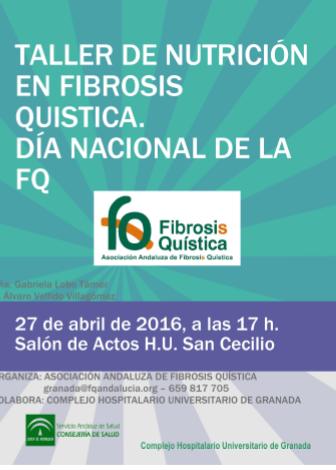 Taller de Nutrición en Fibrosis Quística, 27 abril Granada