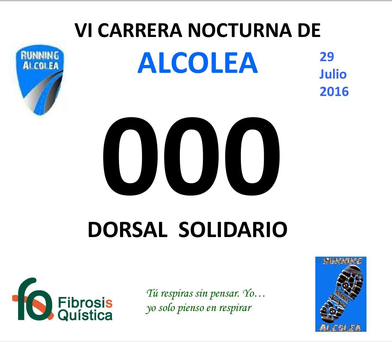 Dorsal 0, VI Carrera Nocturna de Alcolea