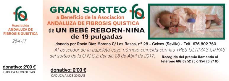 Sorteo Bebé Reborn a Beneficio de la Asociación Andaluza de Fibrosis Quística
