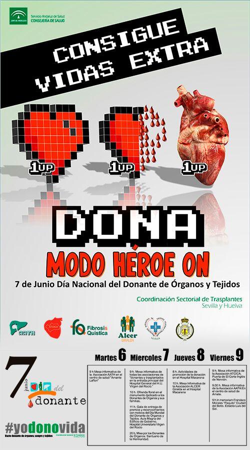 7 de Junio (primer miércoles de Junio) Día del Donante de Órganos y Tejidos