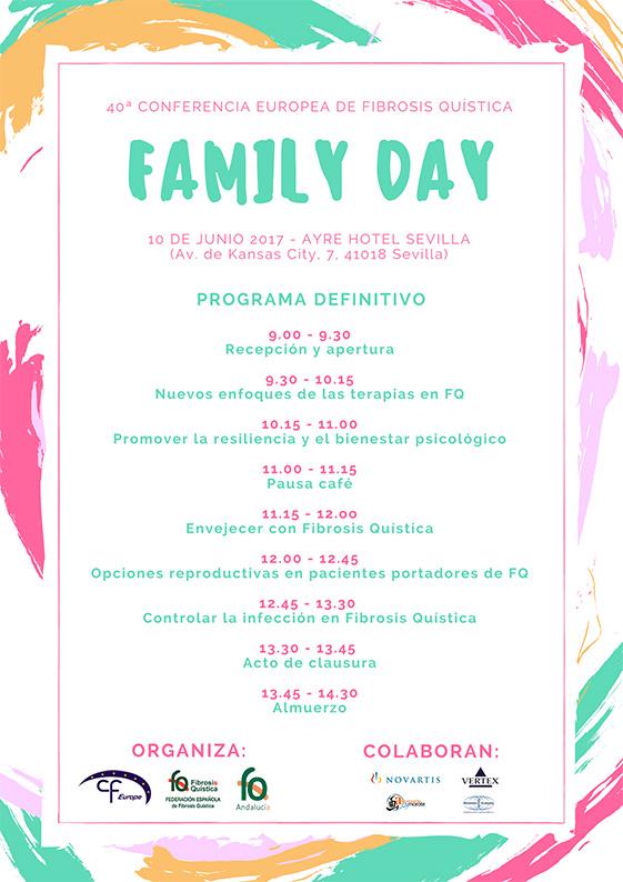 Family Day 40 Conferencia Europea de Fibrosis Quística. 10 de junio, Sevilla