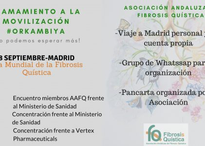 DÍA MUNDIAL DE LA FIBROSIS QUÍSTICA Y CONCENTRACIÓN EN MADRID POR LOS NUEVOS MEDICAMENTOS. 8 DE SEPTIEMBRE