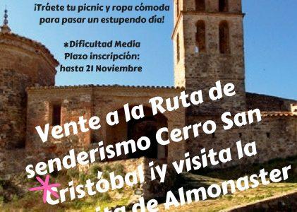 ¡¡ANULADA!! RUTA DE SENDERISMO «SUBIDA A CERRO DE SAN CRISTOBAL». ALMONASTER LA REAL