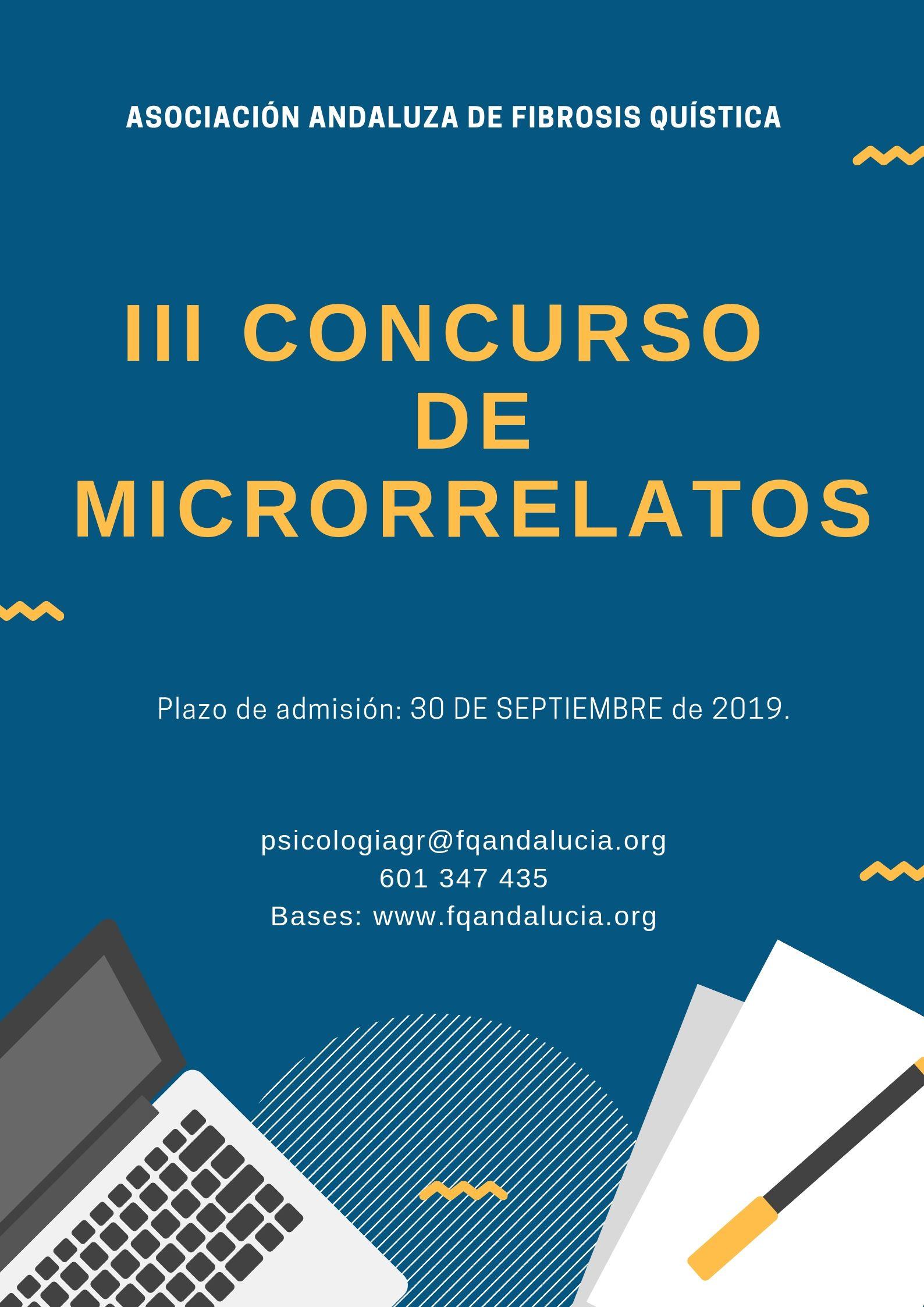 III CONCURSO DE MICRORRELATOS DE LA  ASOCIACIÓN ANDALUZA DE FIBROSIS QUÍSTICA