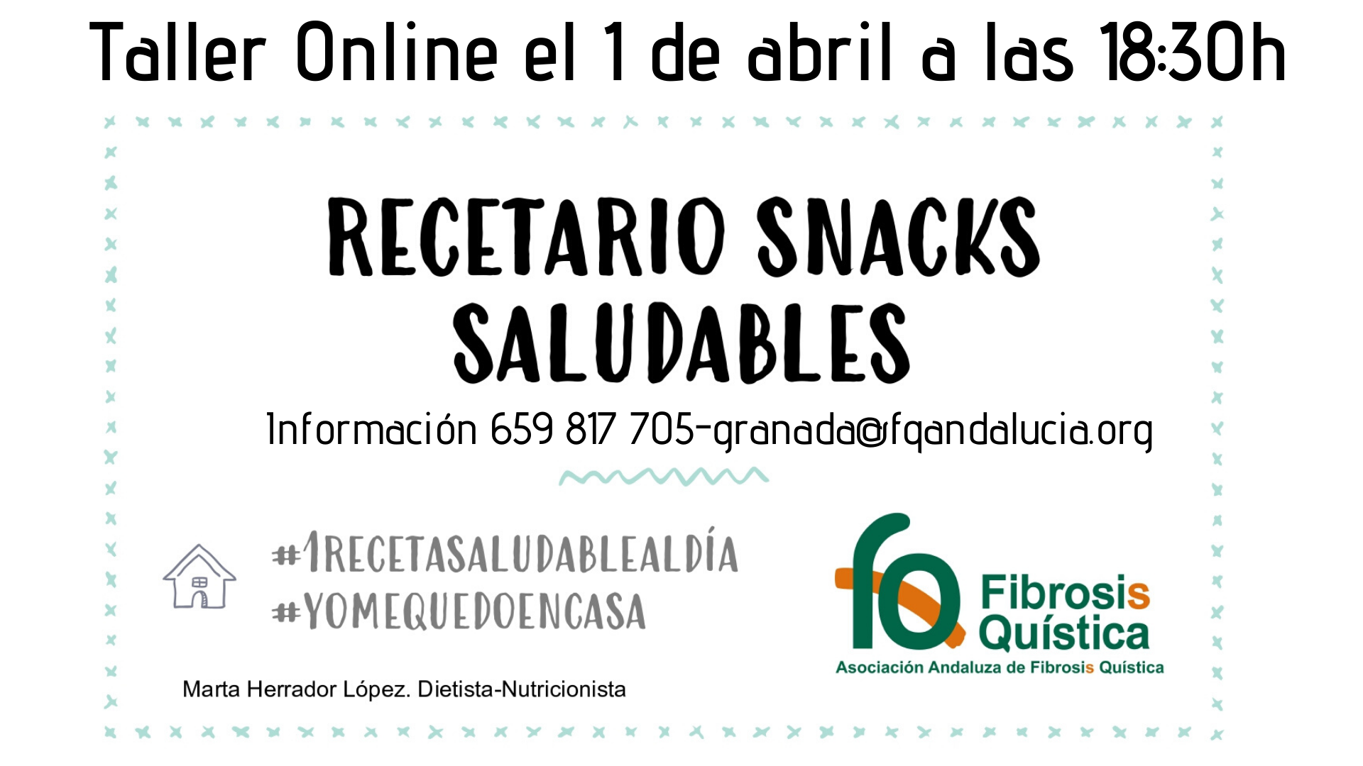 Taller «Recetario Snack Saludables» para FQ