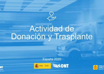 La ONT presenta su balance 2020: España resiste el impacto de la COVID-19 y realiza 4.425 trasplantes